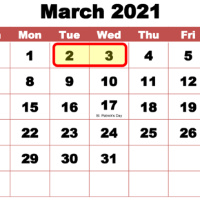 NEW CONFERENCE DATES March 02-03, 2021